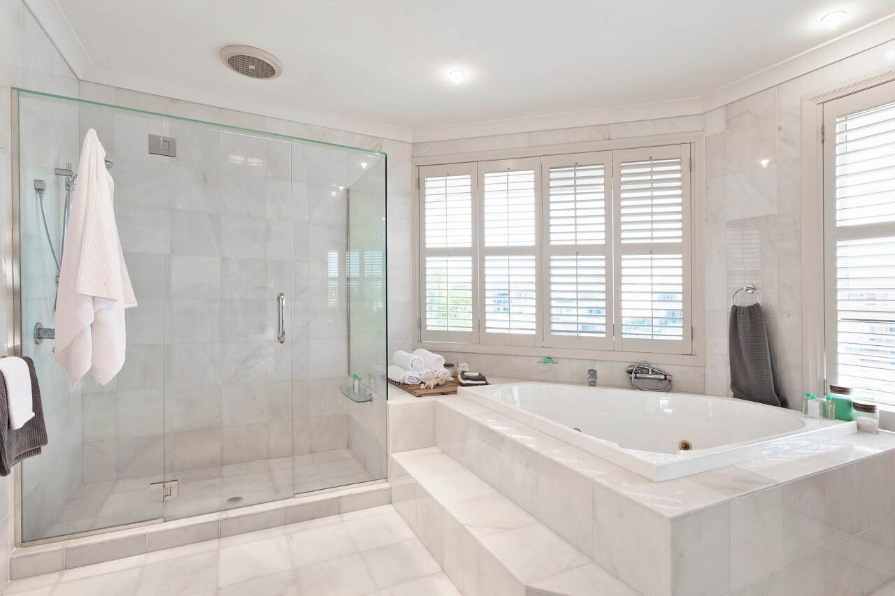 reduce humidity in the home by using exhaust fans in the bathrooms