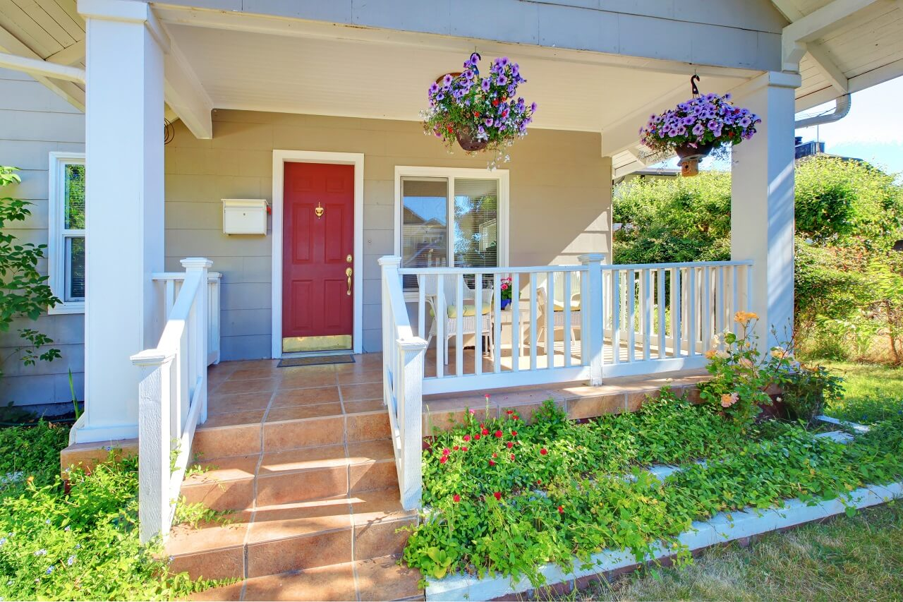 easy home improvement projects include installing a new front door