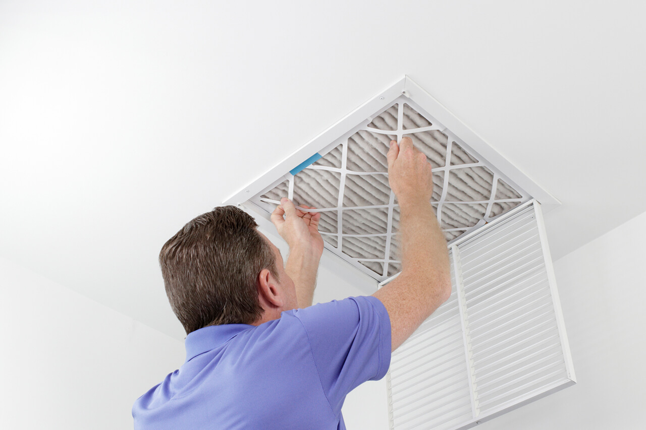 change your HVAC filters to improve indoor air quality